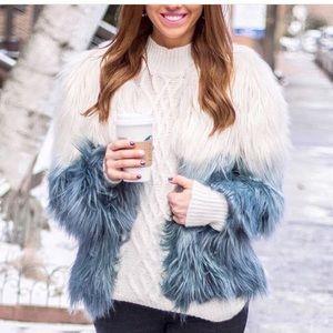 New faux fur coat
